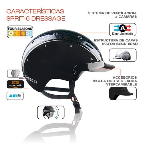 casco equitacion spirit dressage