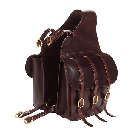alforjas caballos cuero