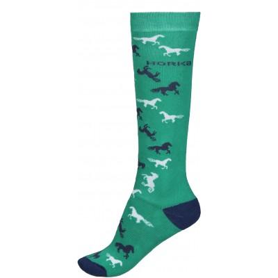 Calcetines caballos verdes.
