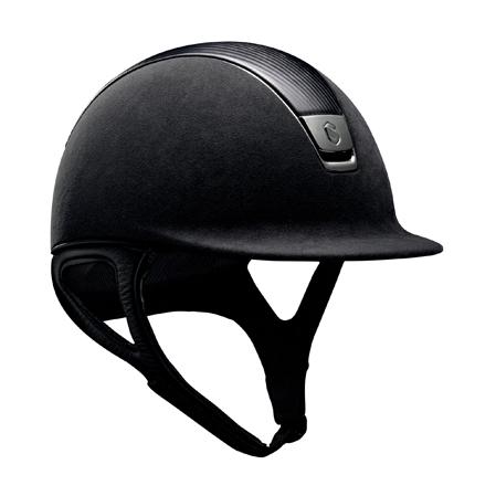 Casco Samshield Premium negro cuero cromado negro.