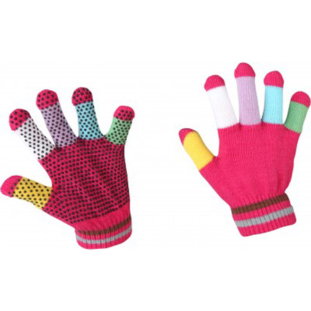 Guantes hípica Magic Rosa.