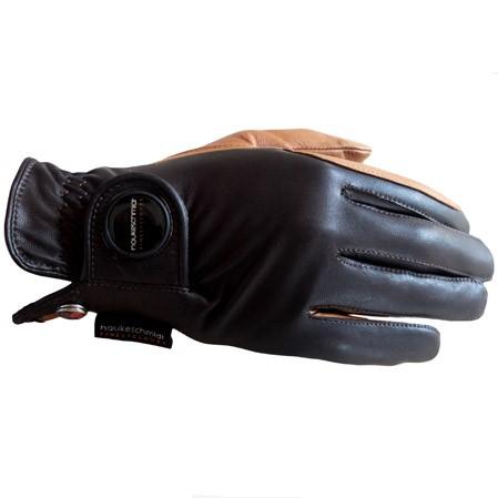 Guantes hípica Haukeschmidt Finest negro marrón.