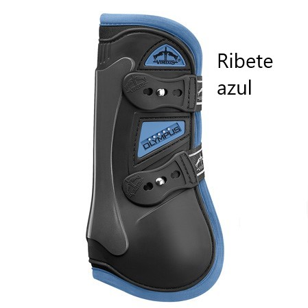 Protectores salto Olympus Color Edition azules.