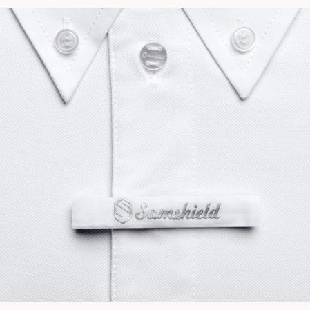 Polo concurso Samshield Charles pasador corbata blanco.