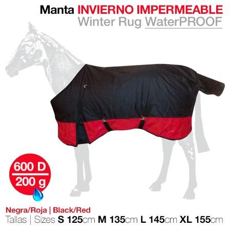 manta caballos invierno impermeable zaldi