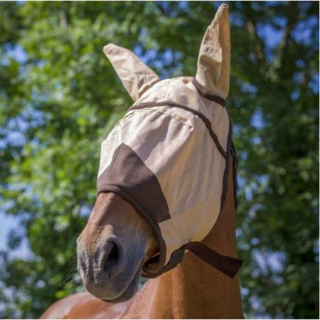 Máscara antimoscas caballos orejeras.