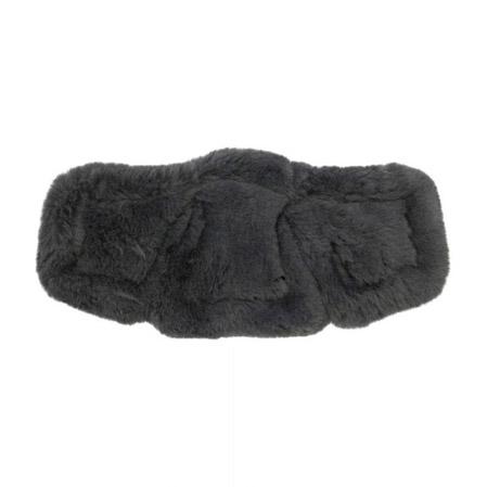 Almohadilla cincha Equi-Soft borreguillo negro.