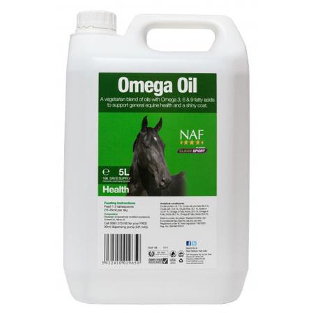 Aceite Omega Oil caballos.