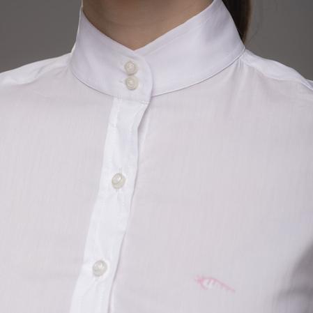 Camisa concurso equitación blanca cuello.