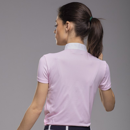 Polo concurso Zanahoria rosa espalda.
