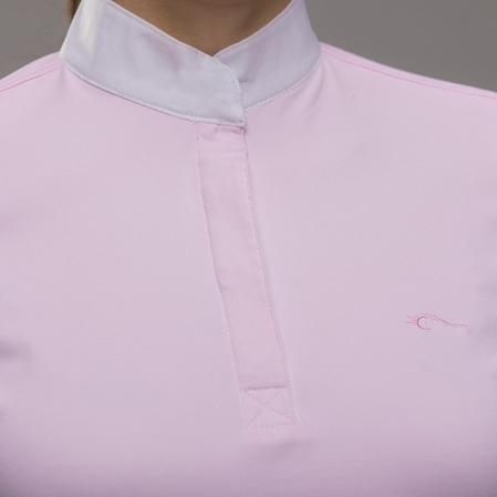 Polo concurso Zanahoria rosa logo.